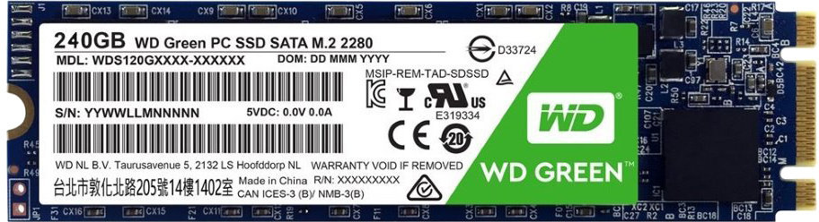 WD SSD Green 3D NAND, M.2 - 240GB
