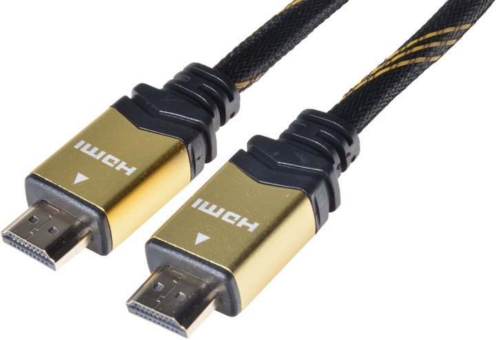 PremiumCord GOLD HDMI High Speed + Ethernet kabel, zlacené konektory, 1,5m